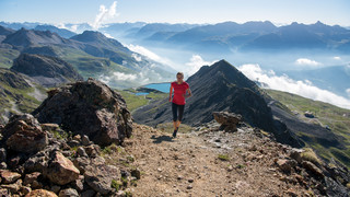 Trailrunning auf Corviglia, Engadin St. Moritz Mountains | © Engadin St. Moritz Mountains